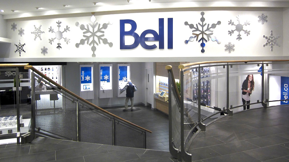 POP - Bell Store Exterior with Snowflakes