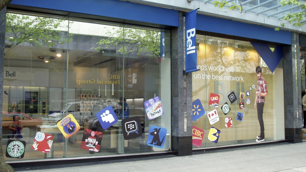 Installation - Window Decals for Bell Store