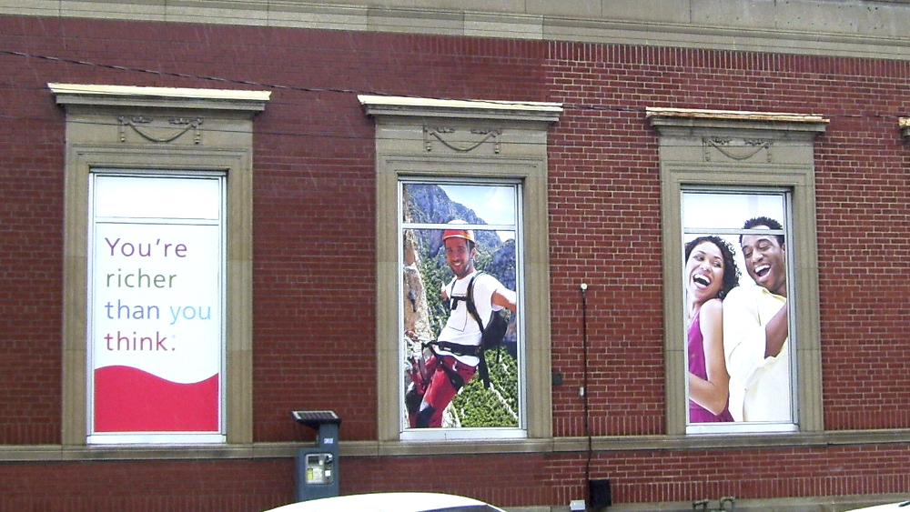 Installation Advertisement - Three Windows Scotiabank