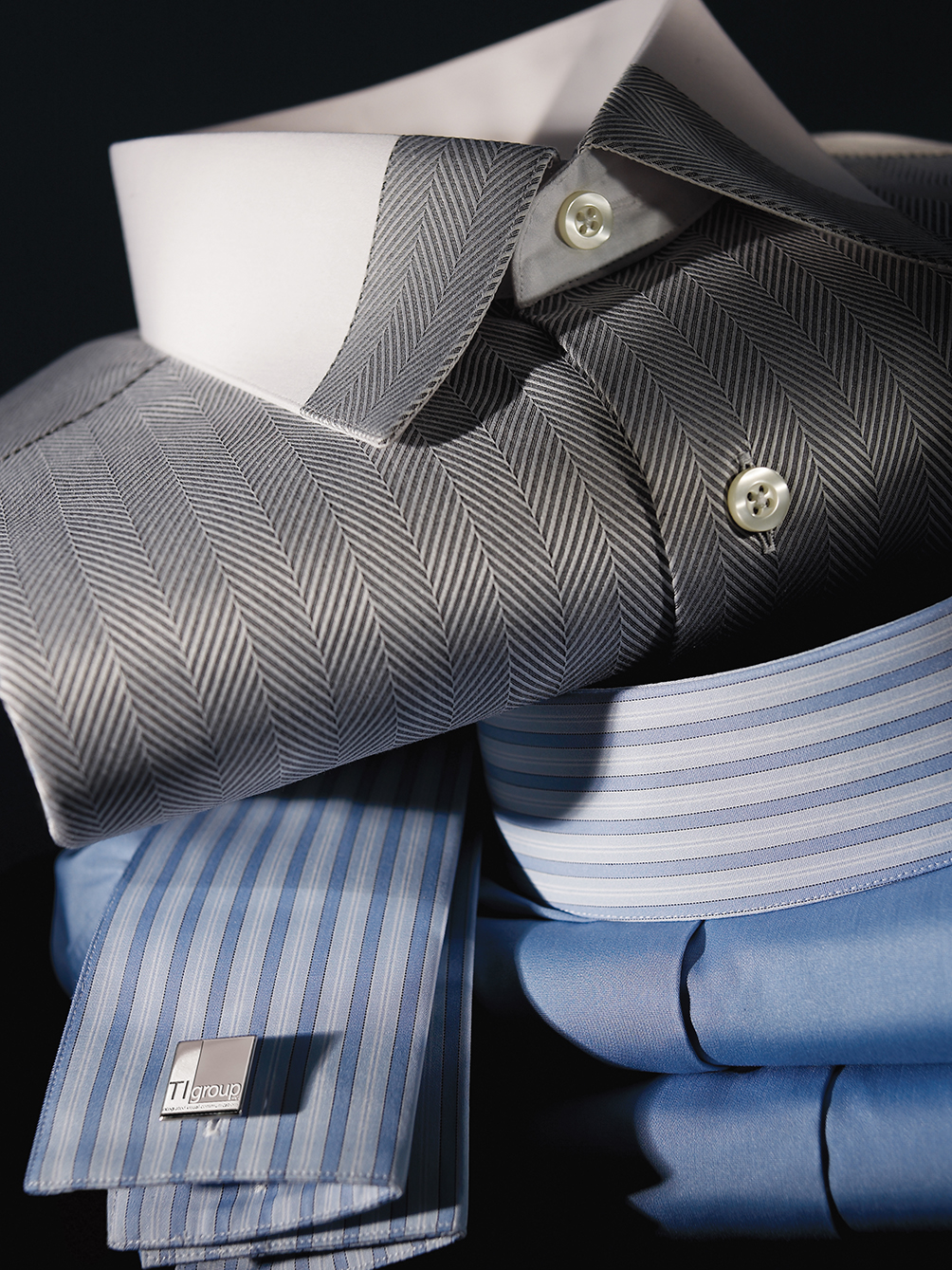 Photography - Men's Dress Shirts in Pile