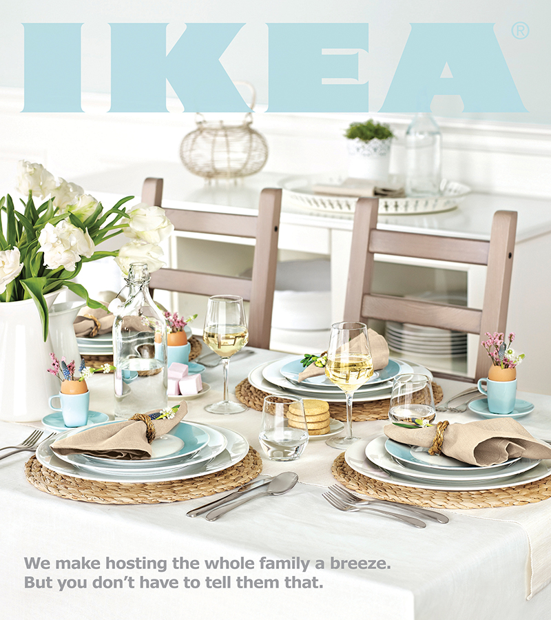 Photography - Ikea Cover of Table Setting with Flowers