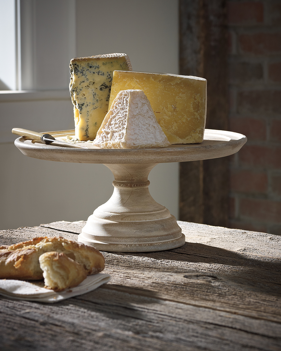 Photography - Brie Cheese and Bread on Wood Table