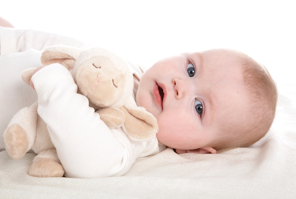 Photography - Baby with Stuffed Animal