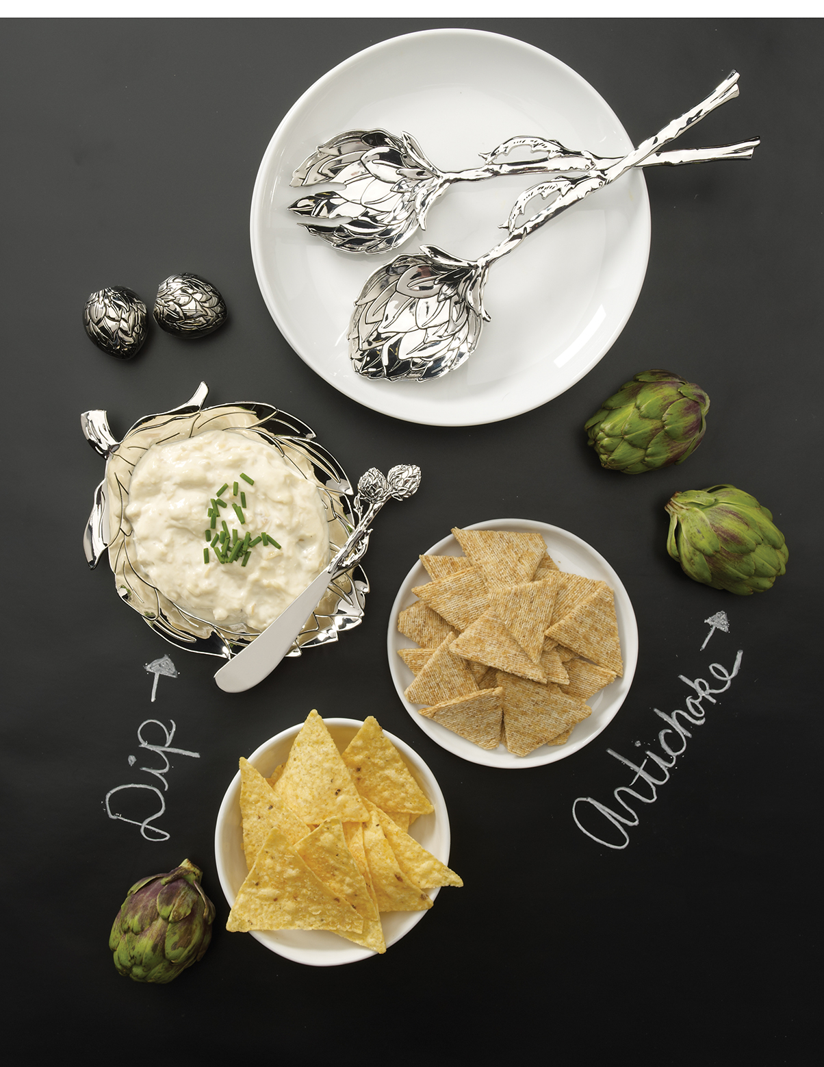 Photography - Dip on Table with Plates