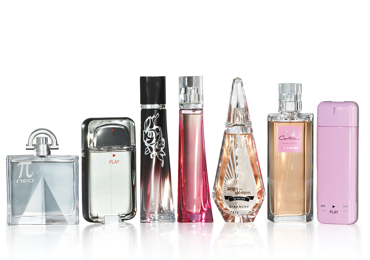 Photography - Givenchy Perfumes Lined Up