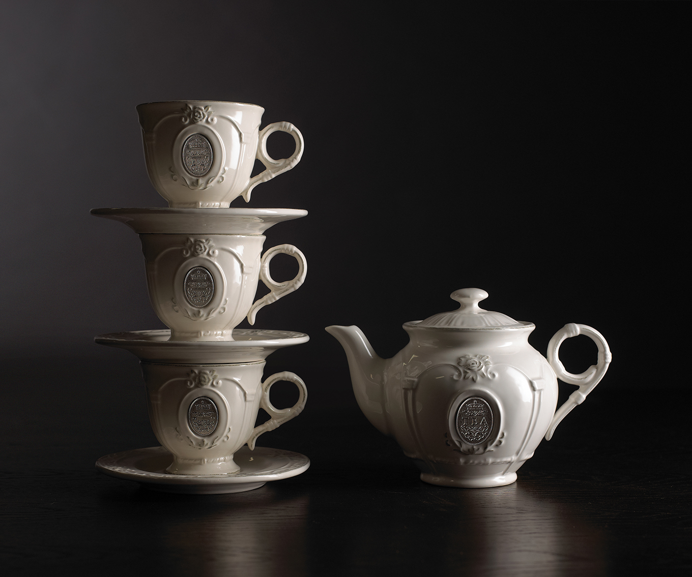 Photography - Tea Set Stacked Teacups