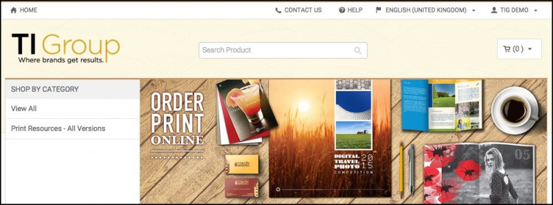 TI Group Order print collateral Online